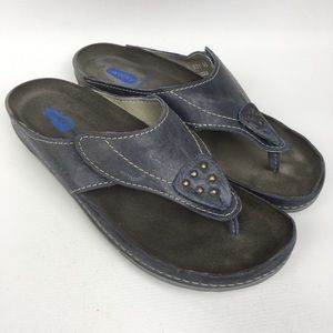 WOLKY Sz 9/40 Leather Adjustable Strap Sandals
